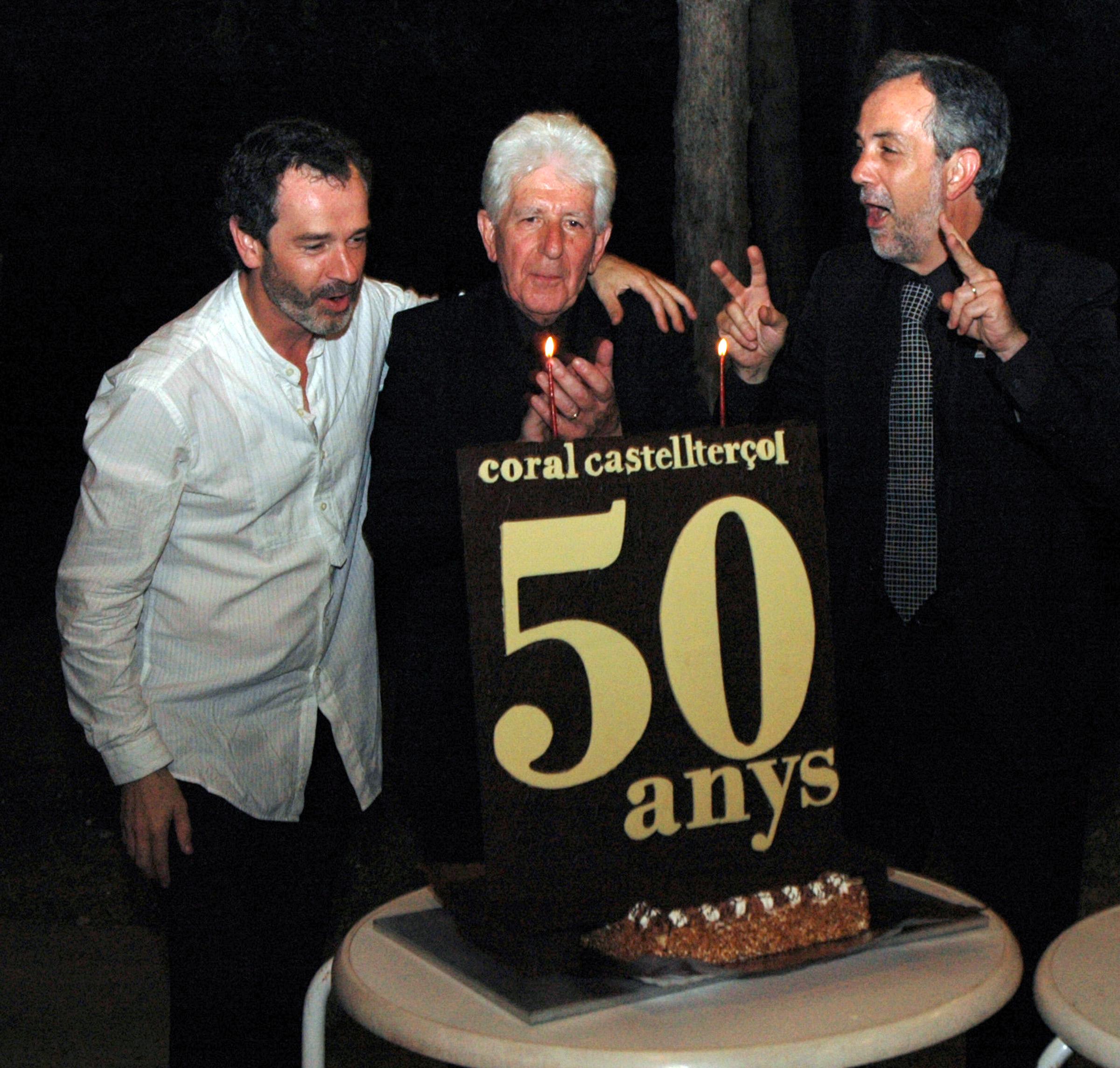 D'esquerra a dreta: Ferran, Domènec i Aflons Miró
